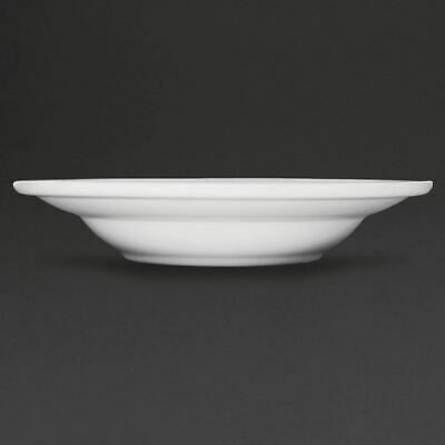 6X Athena Hotelware Rimmed Soup Pasta Bowls 9 in 228mm Porcelain Kitchen Dish