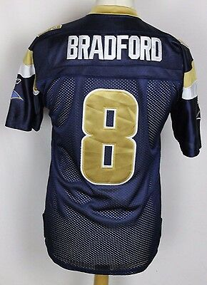 Bradford #8 St Louis Rams American Football Jersey Youths Xl Nfl Reebok Stitched