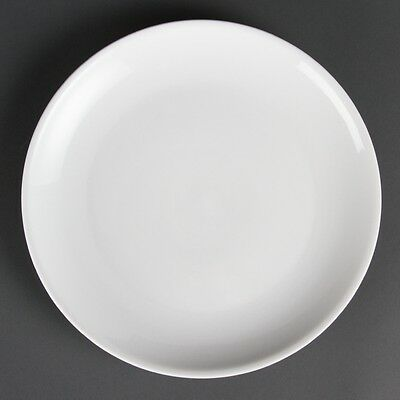 6x Olympia Whiteware Coupe Plates 280mm Serving Tableware Restaurant Crockery