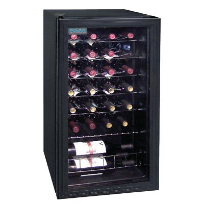 Polar Wine Cooler Fridge 28 Bottles Chiller Display Refrigeration Machine