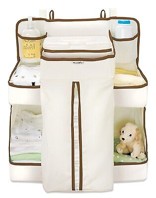 Munchkin Nappy Change Organiser Cream/Brown - NEW