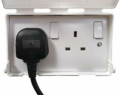 BabySecurity Double Electric Plug Socket Cover Home and School  - White