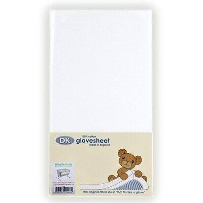 Dk Glovesheets Bedside Crib Mattress Sheet - White (2 Pack)