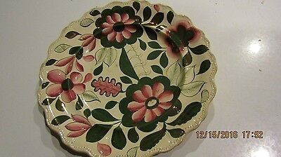 Early Gold Embellished Antique Soft Paste Plate