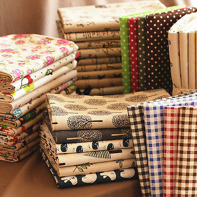 Printed Cotton Canvas Fabric Natural Linen Upholstery Print Curtains Material