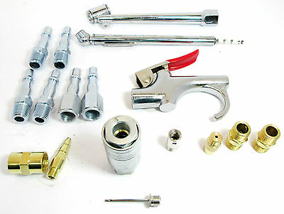 """Compressor Accessory Kit / Fittings / 1/4"""" Air Line Connectors By Bergen  8752"""