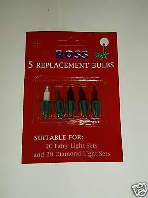 New Replacement Spare Christmas Xmas Fairy Light Bulbs