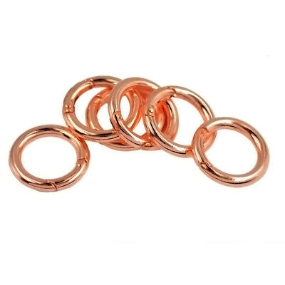 6pcs Spring Snap Keychain Clip Hook Round Circle Carabiner Keychain Keyring 25mm