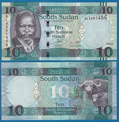 South Sudan 10 Pounds P New 2015 (2016) UNC Low Shipping! Combine FREE!