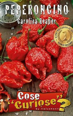 CAPSICUM CHINENSE CAROLINA REAPER 5 semi seeds peperoncino chilli