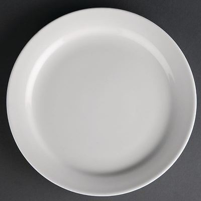 12X Athena Hotelware Narrow Rimmed Plates 165mm Service Dinnerware Tableware