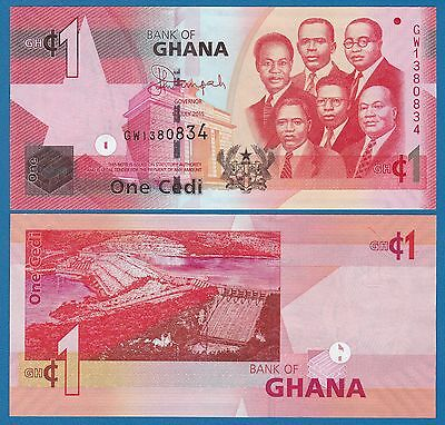 Ghana 1 Cedi P New 2015 UNC  Low Shipping! Combine FREE!