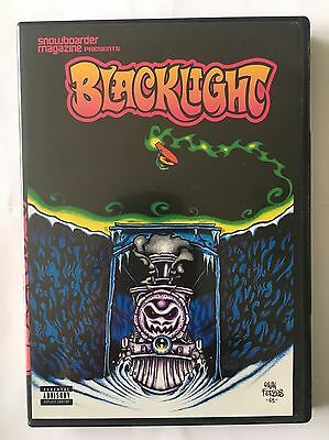 Snowboarder Magazine Blacklight Snowboarding DVD 2001 Mint Condition