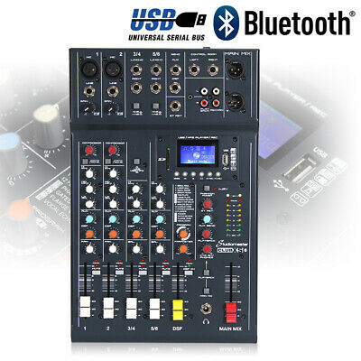 Studiomaster CLUB XS 6 Channel Mixer Desk USB DSP Recorder Bluetooth Playback DJ