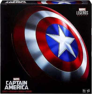 MARVEL LEGENDS CAPTAIN AMERICA REPLICA SHIELD FULL SIZE 24in BRAND NEW FREE SHIP