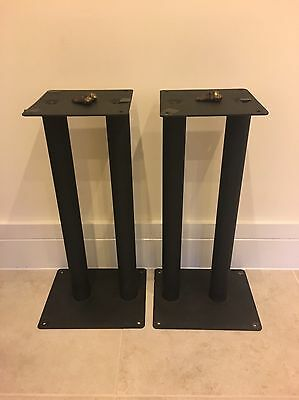 Black HiFi Speaker Stands with Spikes 55cm