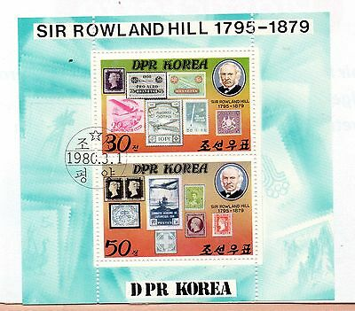 Corea Sello sobre sello Rowland Hill año 1980 (CY-129)