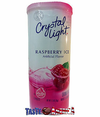 Crystal Light Raspberry Ice Drink Mix Makes 12 Quarts 36g