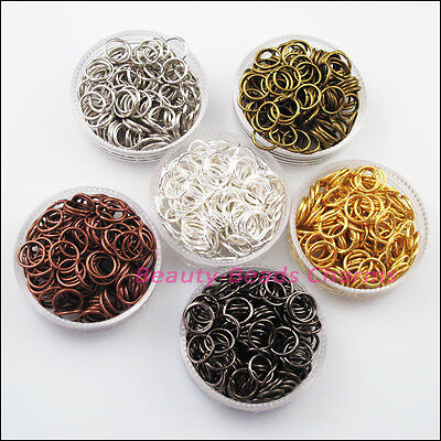 350Pc Jump Rings Open Connector Gold Dull Silver Bronze Copper Black Plated 7mm