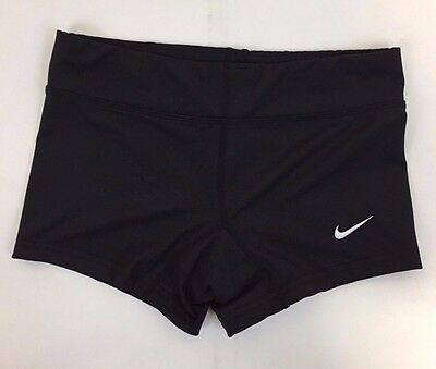 Nike Performance Womens Volleyball Game Shorts, Black, Size XXS