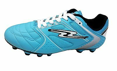 Arza Lether Soccer Cleatse Color White and Blue