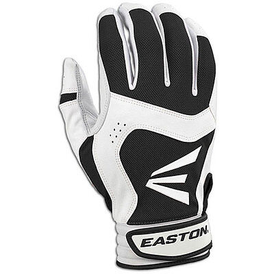 Easton Stealth Core Youth Batting Gloves - Large - White/Black - NEW