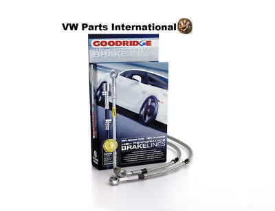 VW Scirocco MK1 Goodridge Braided Stainless Brake Hoses Rear Drums Only Zinc End