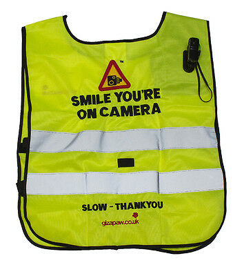 Hack Cam Tabard Smile You'Re On Camera C/W Standard Camera - Rider Safety Wear