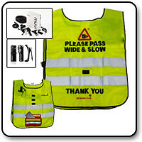 Hack Cam Tabard Please Pass Wide & Slow C/W Muvi Pro Camera - Rider Safety Wear