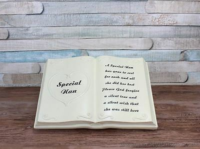 Special Nan Book Graveside memorial plaque LP25344