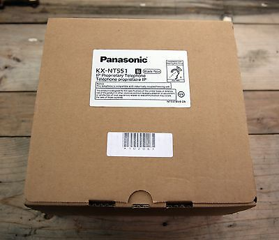 Brand New Panasonic KX-NT551-B Black IP Proprietary Telephone