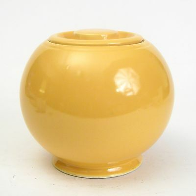 Homer Laughlin China Pottery Fiesta Kitchen Kraft Yellow Lg Canister Cookie Jar