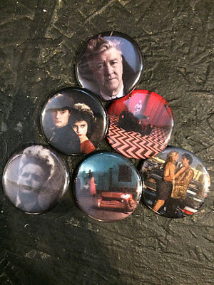 """1.25/"""" Twin Peaks pin back button set of 6"""