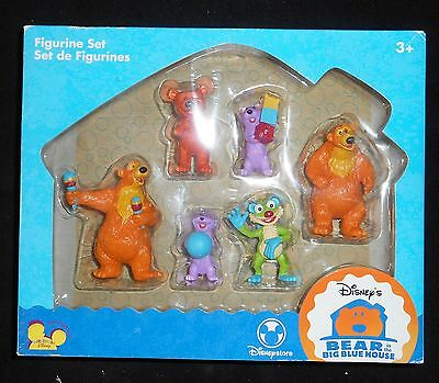 Disney's Bear In The Big Blue House Figurine Set Of 6 ~ TV Toys Ages 3+ ~ NIB