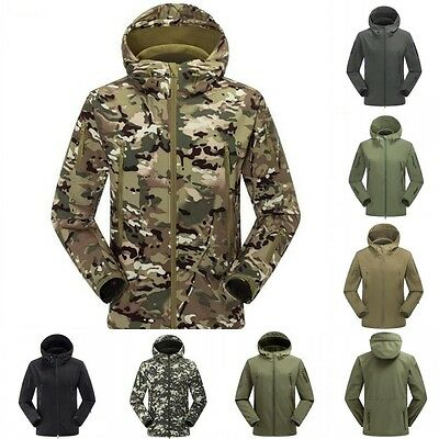 Men's Winter Outdoor Sports Shooting Camping Camouflage Jacket Shark Skin Coat