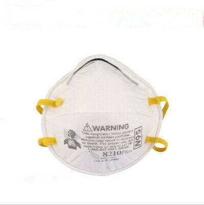 10Pcs 3M 8210 N95 Particulate Respirator Noseclip Adult Dust Mask HOT