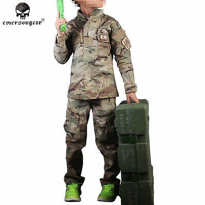 Emerson Combat Uniform For 6Y-14Y Children Boys Camoflage Army BDU Multicam 6929