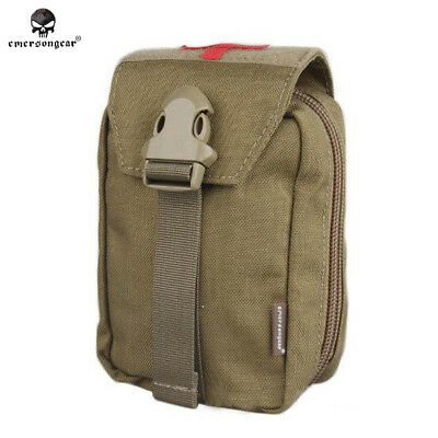 Military First Aid Kit Pouch EMERSON Hunting Airsoft Combat Medic Bag 1000D 6368