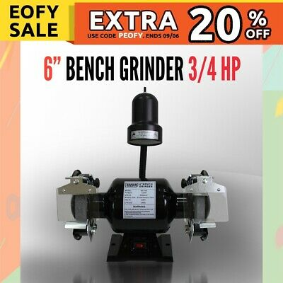 "6"" Bench Grinder 3/4HP 560W 150mm Knife Sharpener Power Tool Industrial Grinding"