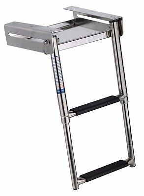 2-step Stainless Telescoping Under Platform Slide Mount Boat Boarding Ladder