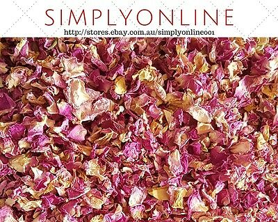 Rose Petals Dried Pink Organic - 200g - Rosa centifola - Free Postage