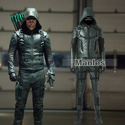 New Arrival Green Arrow Season 5 Oliver Queen Cosplay Costume Garment