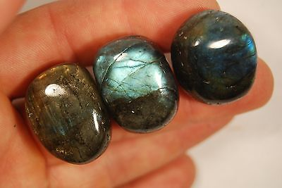 3 LABRADORITE TUMBLED STONES 57g Healing Crystals, Power Stone Imagination