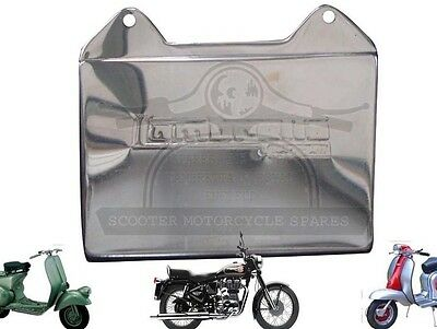 Lambretta Gp Sx Li Tv Embossed Stainless Steel Rear Mud Flap Plate @uk