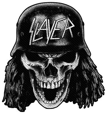 Slayer Wehrmacht Skull Cut Out Patch Official Thrash Metal Band Merch
