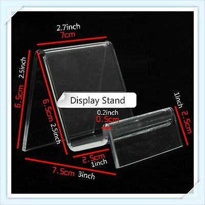5 Pcs Clear Acrylic Retail Shop Display Stand Purse Phone Case Holder Size