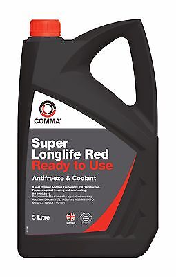Comma Super Long Life Red Antifreeze / Coolant Slc5L