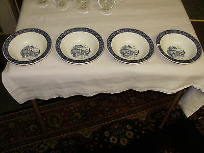 4 Vgt.homer Laughlin Strattwood Collection/shakespeare Country B & W Bowls