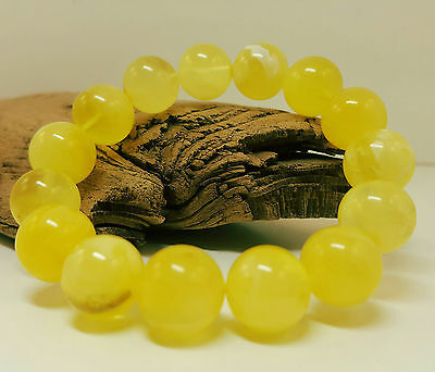 Bracelet Natural Baltic Amber Stone 17,1g Butterscotch Egg Yolk Old Bead A-046