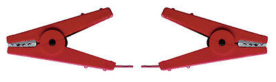 Corral Fence Connection Cable C/W 2 Crocodile Clips - Red - Fencing